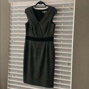 Gray/Black Banana Republic Tweed Dress
